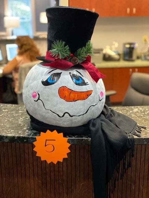 snowman pumpkin